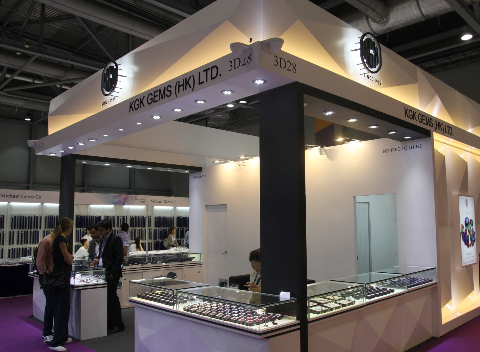 KGK Gems booth at Asiaworld - Expo Hong Kong Sep 2016