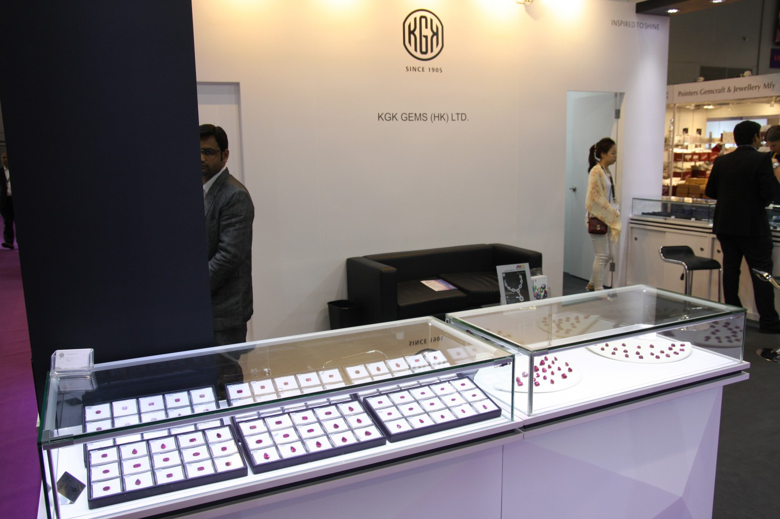 KGK Gems Inventory on display