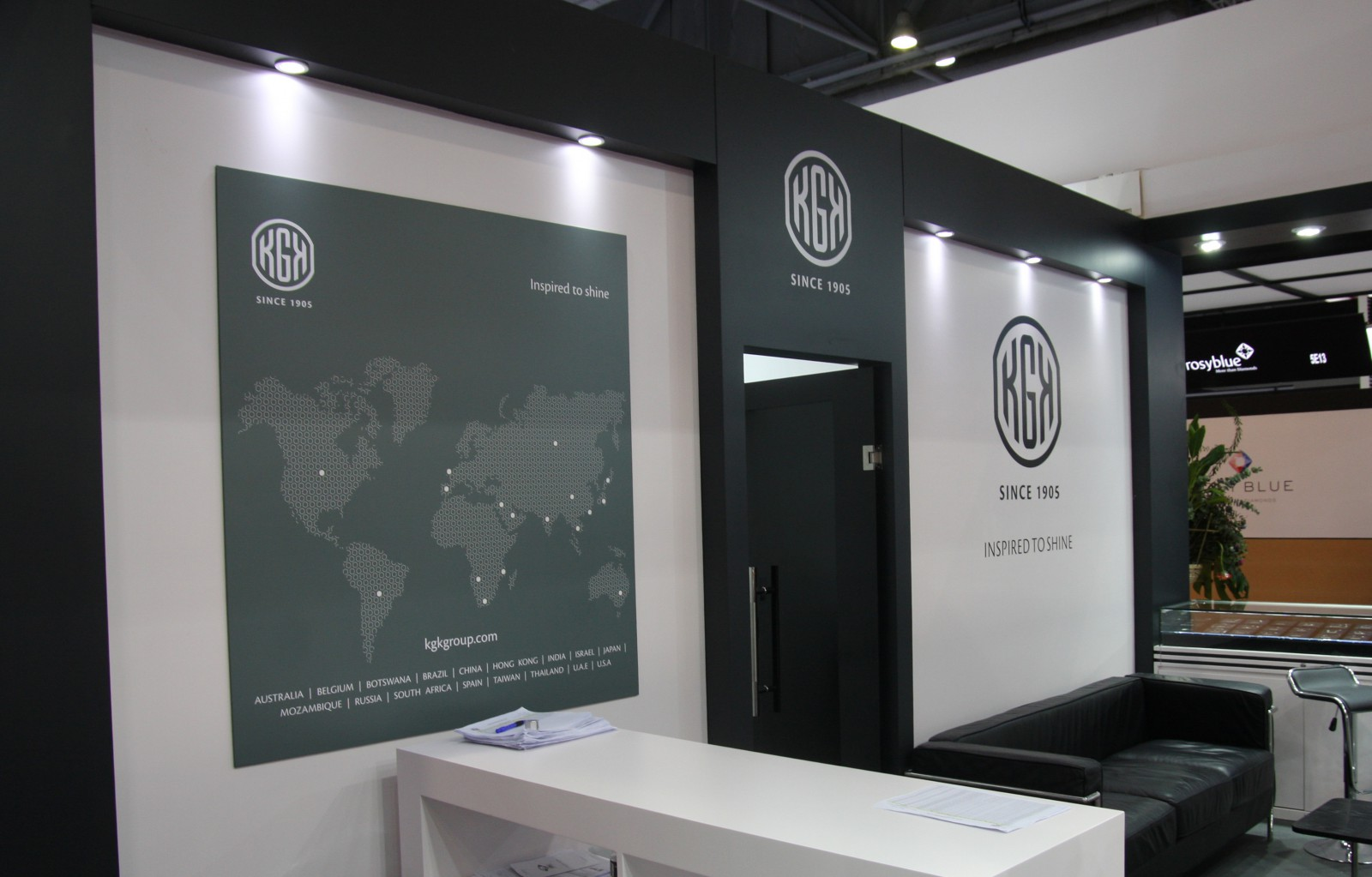 KGK Diamonds booth at Asiaworld - Expo Hong Kong Sep 2016